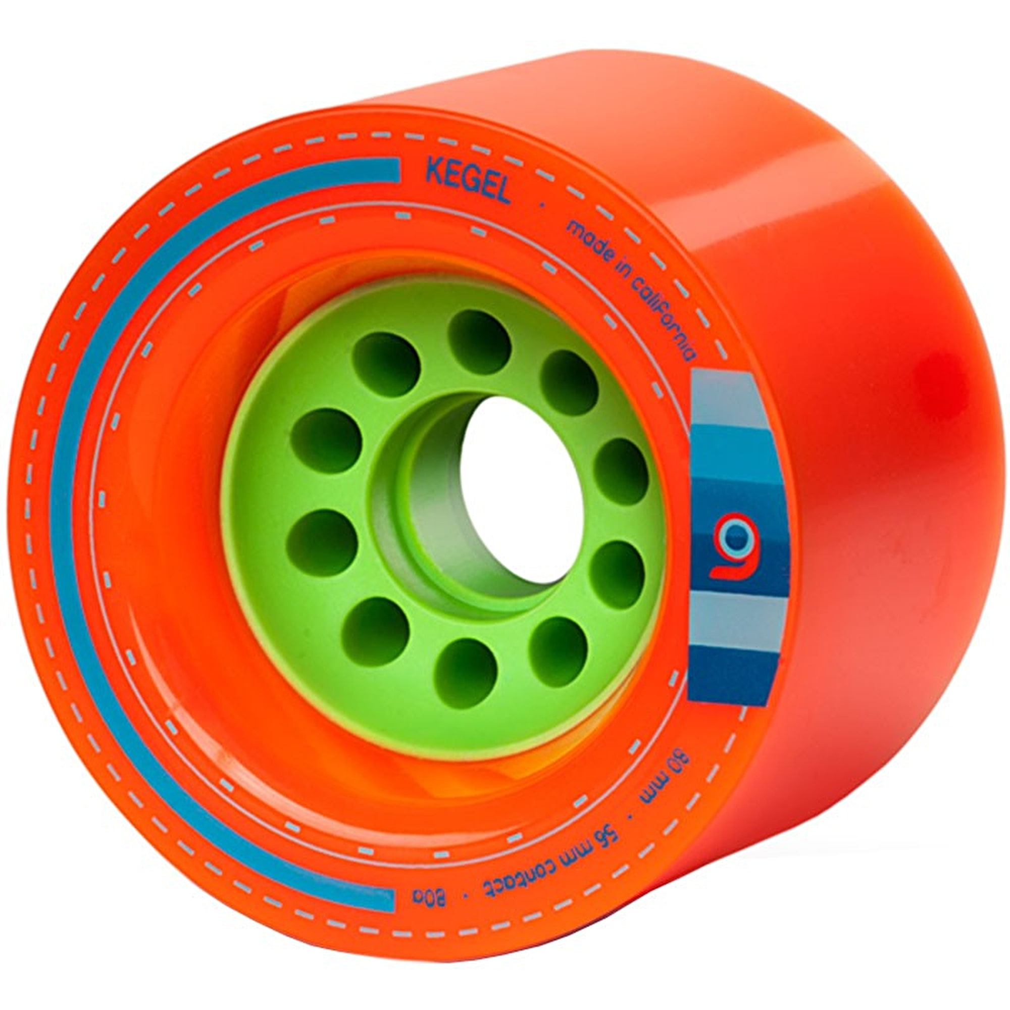 Orangatang Kegel Orange / Green Longboard Skateboard ...