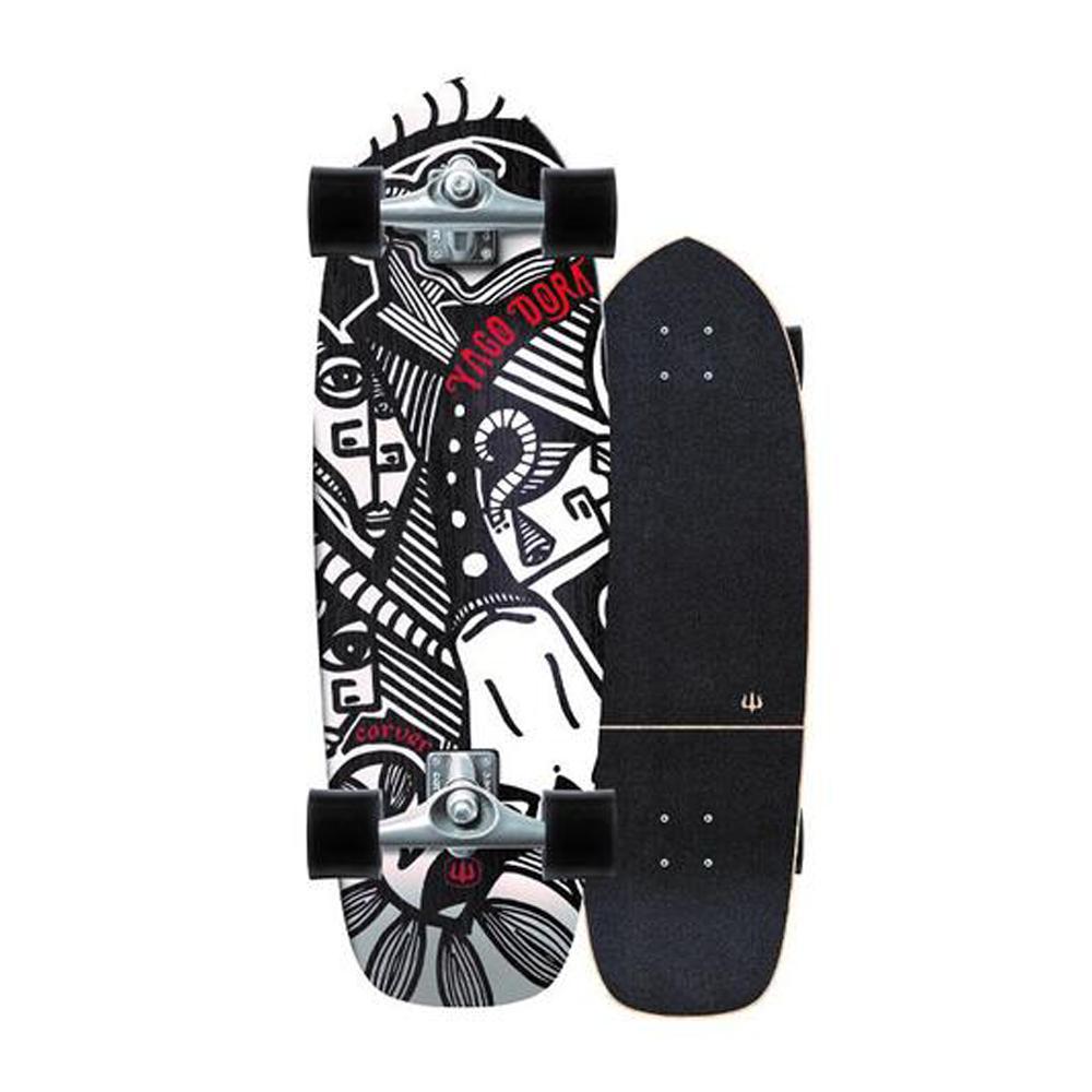 Carver Skateboard Complete Yago Dora Skinny Goat With Cx Trucks Silver