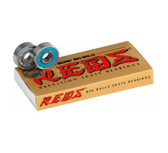 Bones Bearings 8mm Big Balls Reds Bearings Skateboard Bearings Newtons Shred